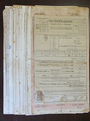 SYRIA SYRIE OTTOMAN FRENCH OCC. 58 DOCUMENTS W/ ADPO ALAOUITES REVENUE Stamps