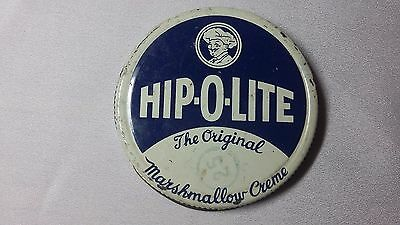 Vintage HIP-O-LITE The Original Marshmallow Creme Metal Lid