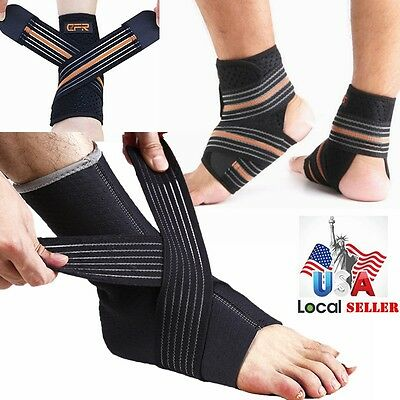 Ankle Brace Compression Support Sleeve Sport Running Foot Socks Injury Recovery