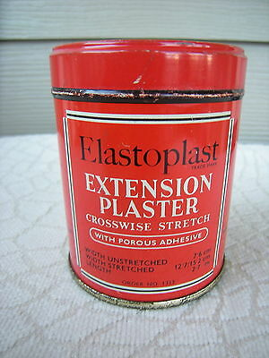 Vintage Elastoplast Extension Plaster Tin Bright and Clean