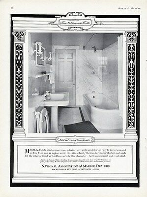 MARBLE BATHROOM Ad 1927 from National Association of Marble Dealers