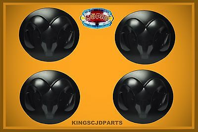 Center Cap 2014  -2017 Dodge Ram 1500 Black Cover 20in Wheel Mopar Set of 4 OEM