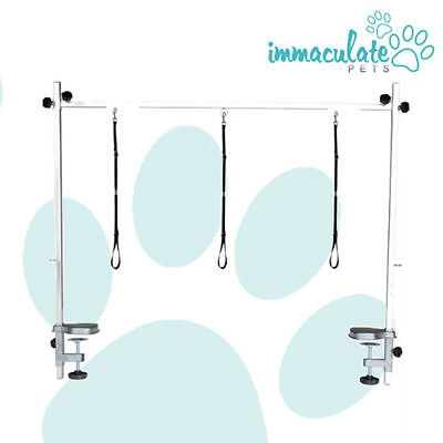 NEW Large Adjustable Dog Grooming Table H Frame / Bar / Arm with 3 x Nooses