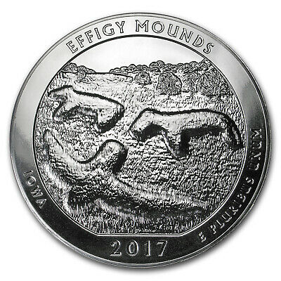 2017 5 oz Silver ATB Effigy Mounds National Monument, Iowa - SKU #102385