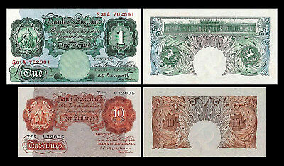 2x 10 Shillings + 1 Pound - Issue ND 1928-1948 - 4 Banknotes - 07