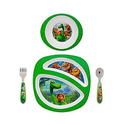 The Good Dinosaur Toddler Dish Set Feeding Baby Bowl Plate Fork Spoon 4 Pieces