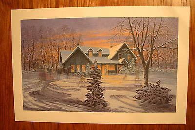 Coming Home James Lumbers Open Edition Collector Print Horses Snow