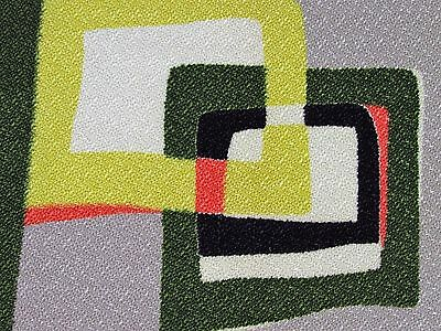 Mid Century Abstract Sorbet of Shapes VTG Barkcloth Era Fabric MCM Rattan Bamboo