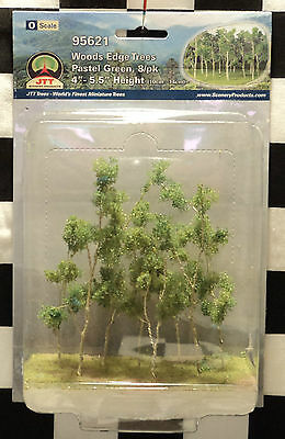 "Jtt Scenery 95621 Woods Edge Trees - Pastel Green  4"" - 5 1/2""  O-Scale  8/pk"