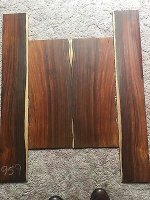 Cocobolo Rosewood Dreadnought Acoustic Guitar Tonewood Set Spiderweb Beeswing