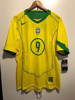 Brazil 2004 Limited Edition 5000 player issue shirt #9 RONALDO L