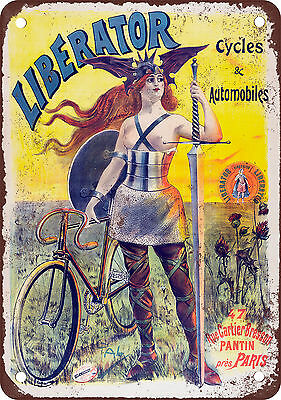 "7"" x 10"" Metal Sign - 1903 Liberator Bicycles - Vintage Look Reproduction"