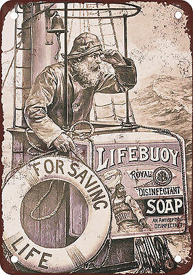 "7"" x 10"" Metal Sign - 1903 Lifebuoy Soap - Vintage Look Reproduction"