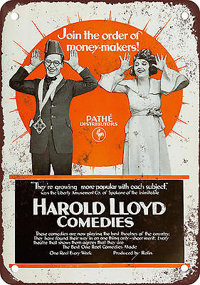 "7"" x 10"" Metal Sign - 1919 Harold Lloyd Comedies - Vintage Look Reproduction"