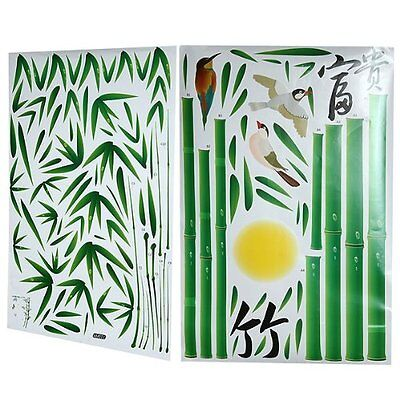 Wall Sticker Decal Art Mural Room PVC Removable Fresh Bamboo Colorful I4U3