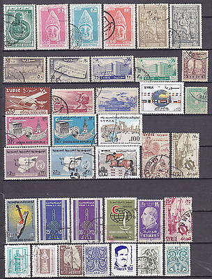 Syria Syrie Old And Modern Used Stamps Collection