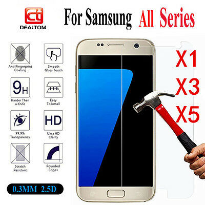 1/3/5XReal Tempered Glass Screen Protector For Samsung Galaxy A3 A5 A7 2016/2017