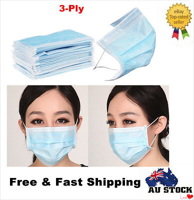 3-Ply Disposable Face Anti-Dust Ear Loop Medical Mouth Mask Clinic DENTAL SURGIC