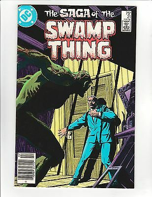 Saga of the Swamp Thing #21 - Alan Moore Story. New Origin Story, 7.5 Very Fine-