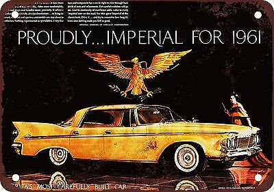 "7"" x 10"" Metal Sign - 1961 Chrysler Imperial - Vintage Look Reproduction"