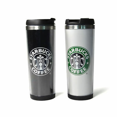 New Starbucks Double Wall Coffee Mug Tumbler Stainless Steel Travel Cups 14oz