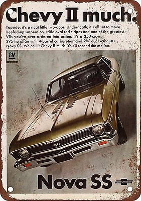 "7"" x 10"" Metal Sign - 1968 Chevy Nova SS - Vintage Look Reproduction"