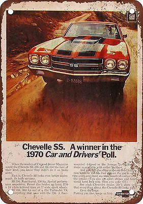 "7"" x 10"" Metal Sign - 1970 Chevelle SS - Vintage Look Reproduction"
