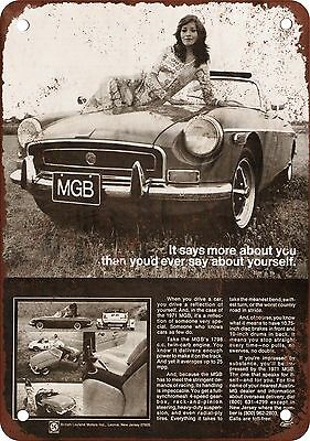"7"" x 10"" Metal Sign - 1971 MGB - Vintage Look Reproduction"