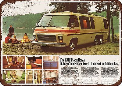 "7"" x 10"" Metal Sign - 1973 GMC MotorHome - Vintage Look Reproduction"