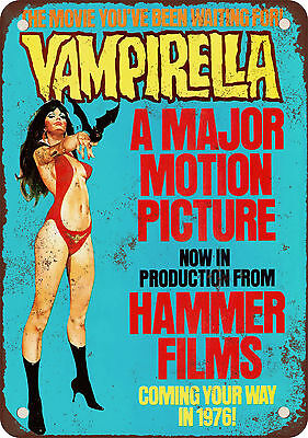 "7"" x 10"" Metal Sign - 1976 Vampirella Movie - Vintage Look Reproduction"