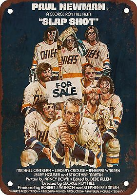 "7"" x 10"" Metal Sign - 1977 Slap Shot - Vintage Look Reproduction"