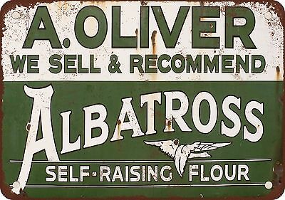 "7"" x 10"" Metal Sign - Albatross Self-Raising Flour - Vintage Look Reproduction"
