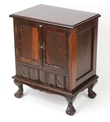 Antique Two door Mahogany Cabinet on Ball and Claw Feet - FREE Shipping [PL3103]