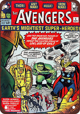 "7"" x 10"" Metal Sign - Avengers #1 - Vintage Look Reproduction"