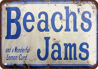 "7"" x 10"" Metal Sign - Beach's Jams - Vintage Look Reproduction"