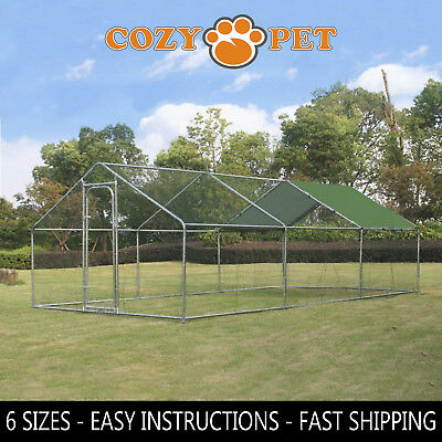 Chicken Run 5 Sizes suitable for Hens Dogs Poultry Rabbit Ducks Coop Chickens