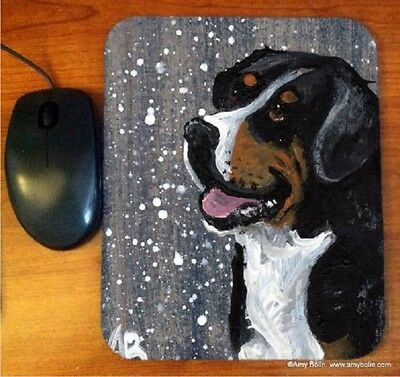 MOUSE PAD GREATER SWISS MOUNTAIN DOG SWISSY  BY  Amy Bolin