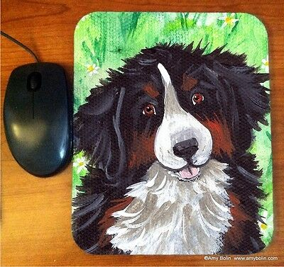 MOUSE PAD BERNESE MOUNTAIN DOG  BY  Amy Bolin LITTLE BERNIE