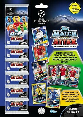 Multipack Topps Champions League 2016 2017 (6 x Booster ,1 x Limited Edition)
