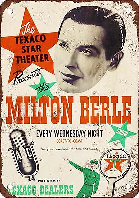 "7"" x 10"" Metal Sign - Milton Berle - Vintage Look Reproduction"