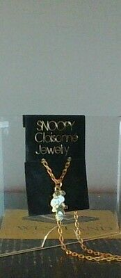 Vintage Peanuts Snoopy Dancing Closionne Jewelry Aviva Necklace New