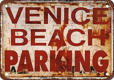 "7"" x 10"" Metal Sign - Venice Beach Parking - Vintage Look Reproduction"
