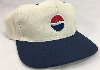"New Old Stock Pepsi Snap Back Hat ""One Hundred Years"""