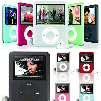 "BLACK MP3 MP4 Player 1.8"" LCD Screen FM Radio Video Games Movie ON Recorder Slim"