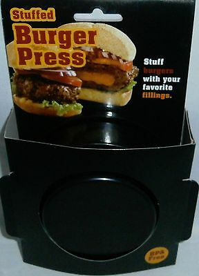STUFFED BURGER PRESS  Stuff Your Burgers With Your Favorite Fillings  BLACK