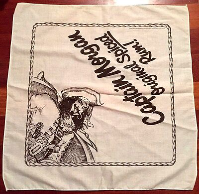 "Captain Morgan Original Spiced Rum Head Bandana Scarf Pirate 21""x21"" NEW"