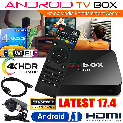 2017 4K SM PRO Quad Core Android Smart TV Box Media Player NEW Sports Movies UK