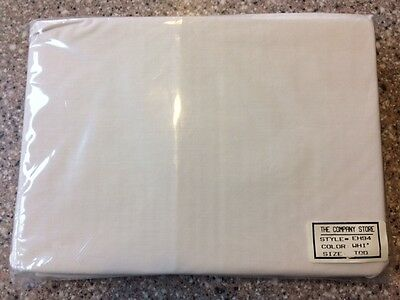White cotton percale crib / toddler bed fitted sheet -- NIP, Company Store brand