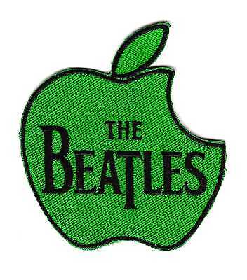 The Beatles Apple Records Music Label Green Apple Logo Embroidered Patch