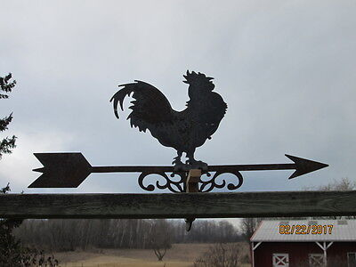 "ROOSTER Weather Vane for parts about 22.5 "" long Vintage"